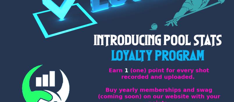 Pool Stats Loyalty Program